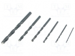 Alpen-maykestag 0000801122100 / Drills; metal; Pcs:6; HSS; Ø:2mm,3mm,4mm