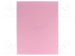3M 60070002328 / Wipe: micro abrasives material; Colour: pink; Base thick