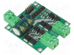 Dfrobot DRI0041 / DC-motor driver; Icont out per chan:7A; Uin mot:7÷24V;