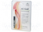 Ag termopasty AG GOLD 3G / Heat transferring paste; copper; silicone + go