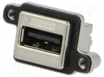 Amphenol MUSB-A511-N0 / Socket; USB A; MUSB; for panel mounting, screw; T