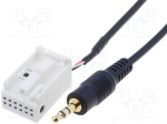 4carmedia / Aux adapter; Jack 3,5mm; VW; 1.25m; Navigation: RNS-310,RNS-5