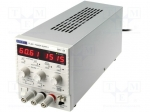 Aim-tti / Pwr sup.unit: laboratory; Channels:1; 0÷60VDC; 0÷1.5A; Plug: