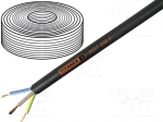 Helukabel 37001T / Wire; H07RN-F, TITANEX®; stranded; Cu; 1x1,5mm2; rubb