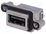 Amphenol MUSBR-A511-40 / Socket; USB A; MUSB; for panel mounting, screw;