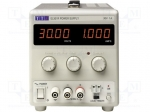 Aim-tti / Pwr sup.unit: laboratory; Channels:1; 0÷30VDC; 0÷1A; Plug: EU