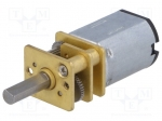 Dfrobot FIT0302 / Motor: DC; with gearbox; 6VDC; 100mA; Shaft: D spring;