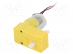 Dfrobot FIT0016 / Motor: DC; with gearbox; 6VDC; 2.8A; Shaft: two sides f