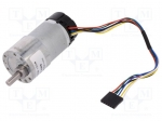 Dfrobot FIT0185 / Motor: DC; with encoder,with gearbox; 12VDC; 7A; Shaft:
